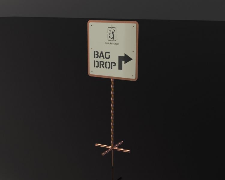 Bag Drop Sign 2 -TPC San Antonio