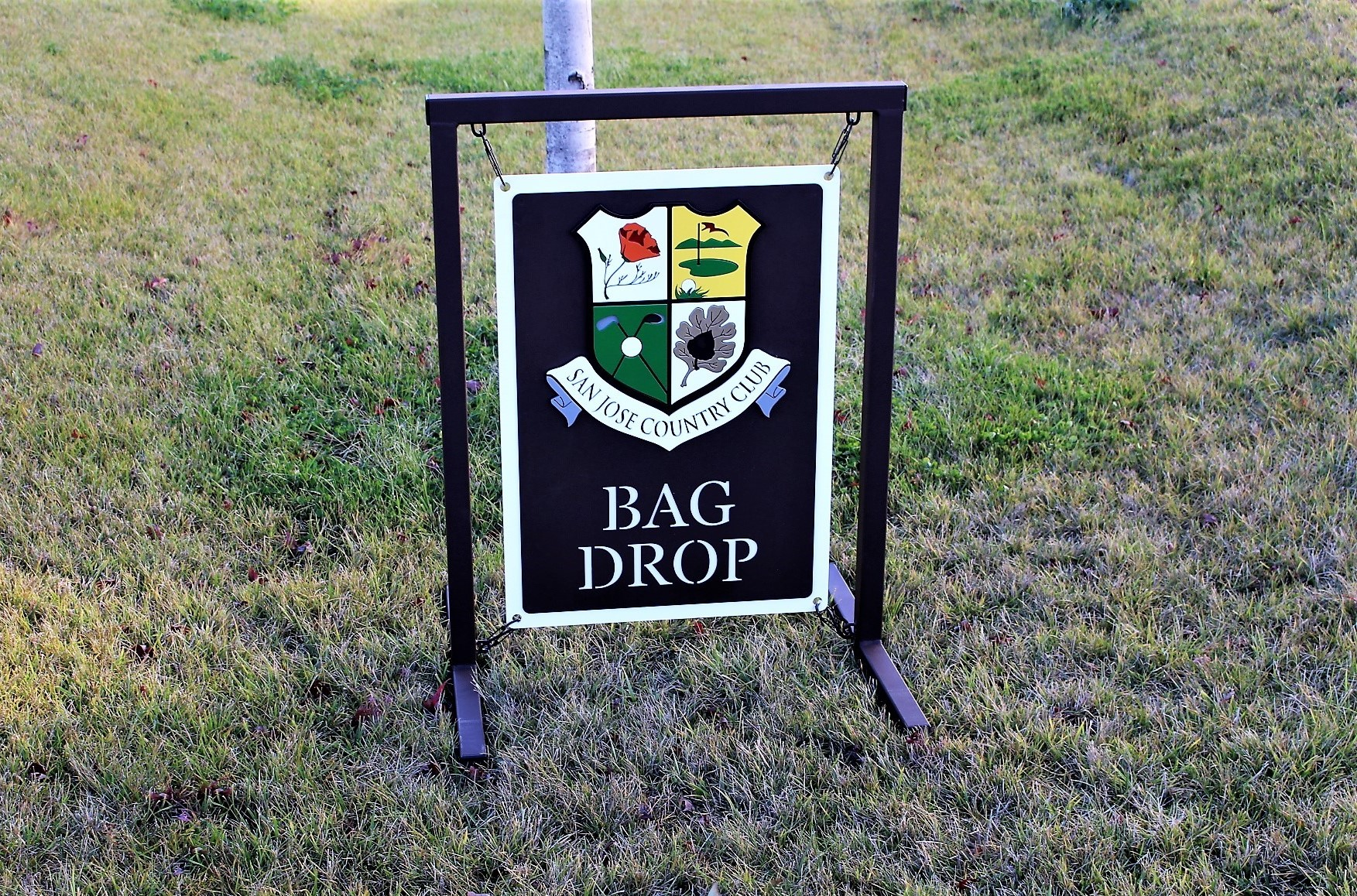 Bag Drop Sign -San Jose CC