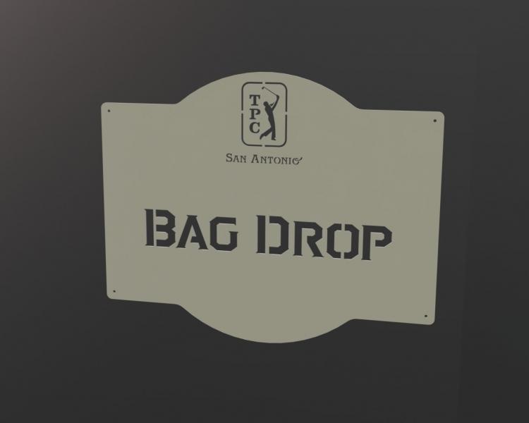 Direction Sign - Bag Drop TPC San Antonio