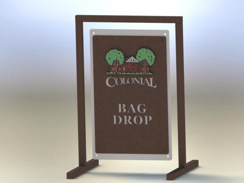 Golf Course Bag Drop Sign -Colonial TX