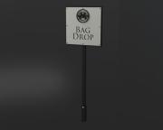 Bag Drop Sign 3-Manchester