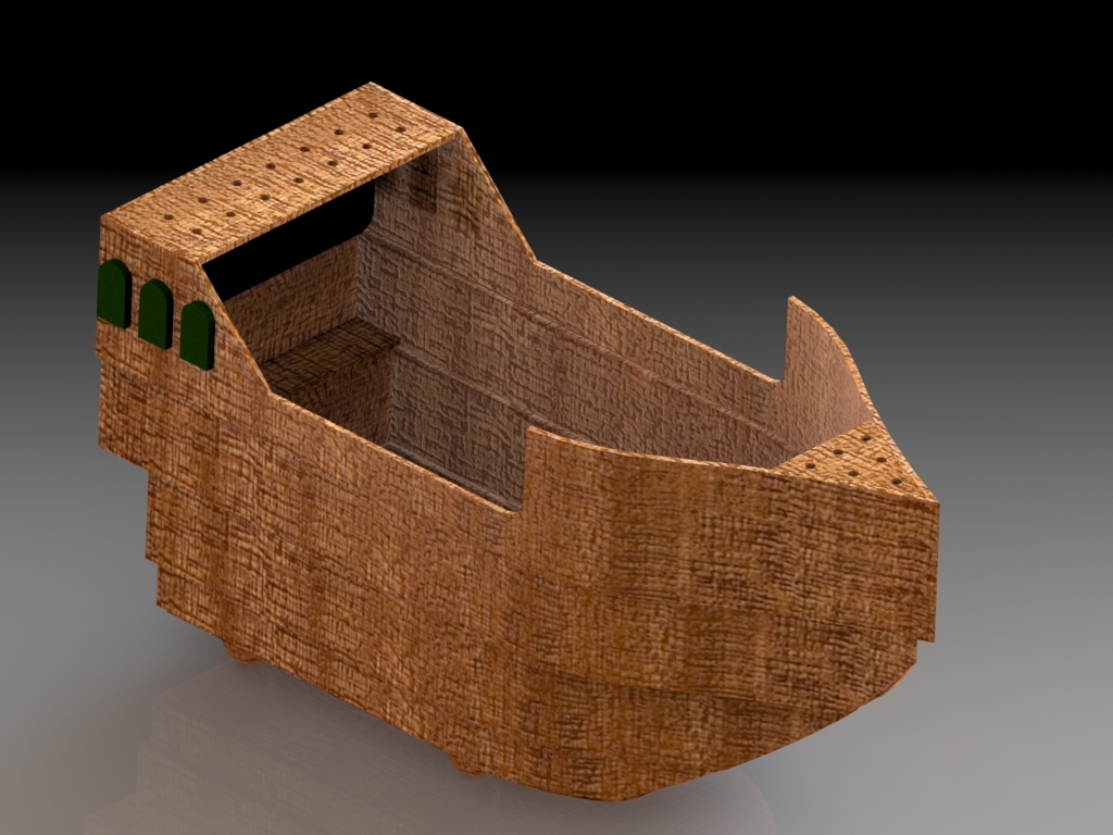 Boat Ball Basket - Rust Front Corner