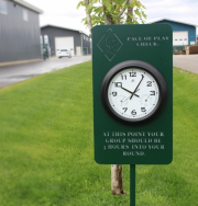 Driving Range Clock Sign Sand Ridge