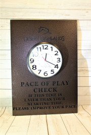 Pace of Play Clock -Desert Highlands