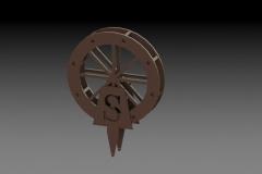 3D Waterwheel Tee Marker