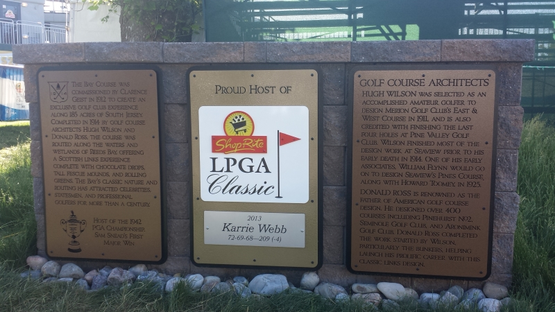 Custom Golf Course Signage -Seaview