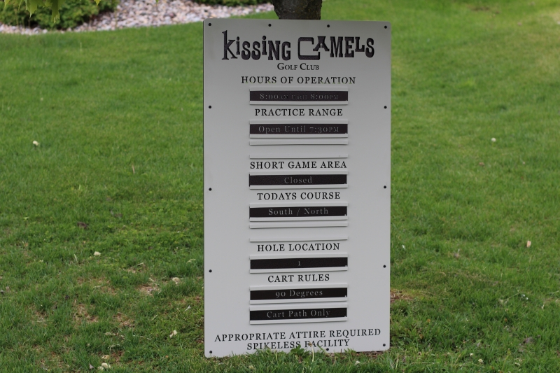 Custom Informational Sign -Kissing Camels