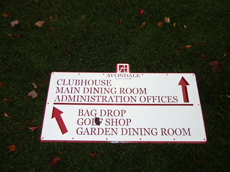 Golf Course Sign -Avondale