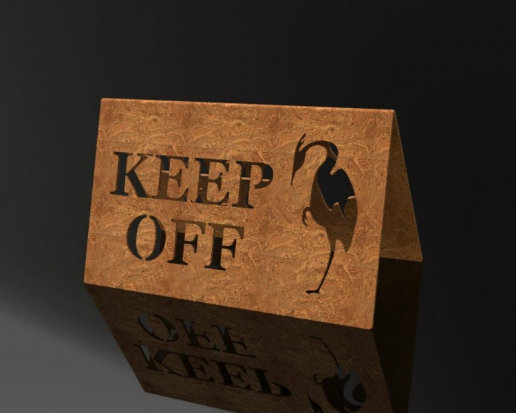 Keep off Sign -Crane Creek