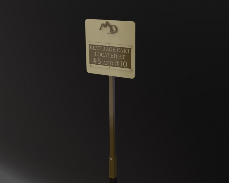 La Quinta Beverage Cart Sign 2