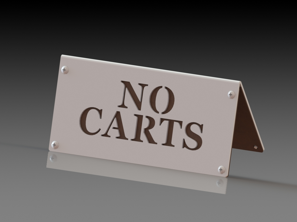 No carts a-frame