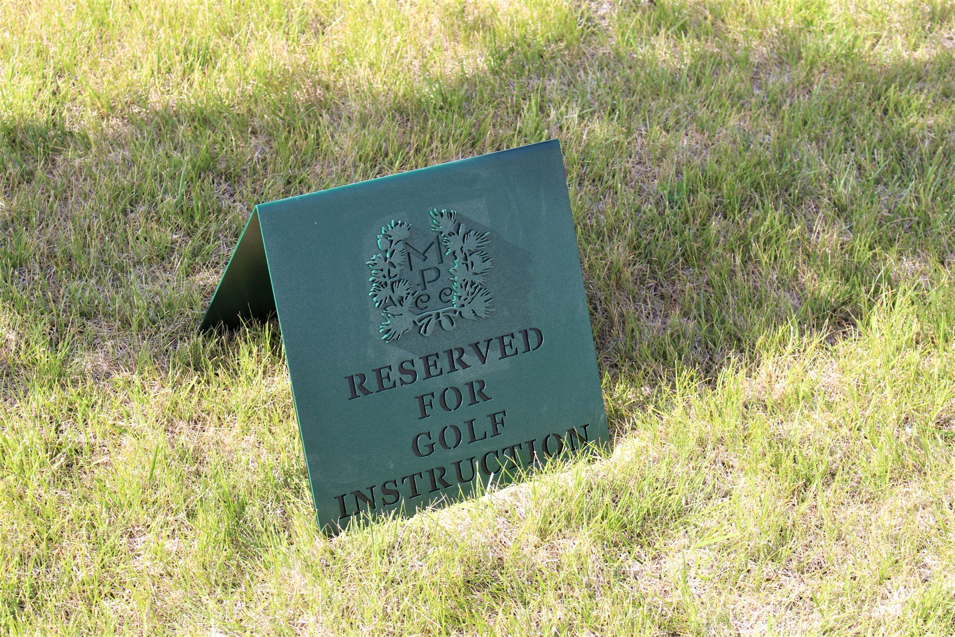 RESERVED FOR INSTRUCTION SIGN