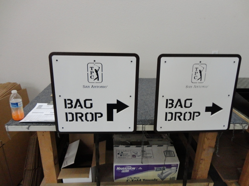 Golf Course Bag Drop Area Signs -TPC-San-Antonio