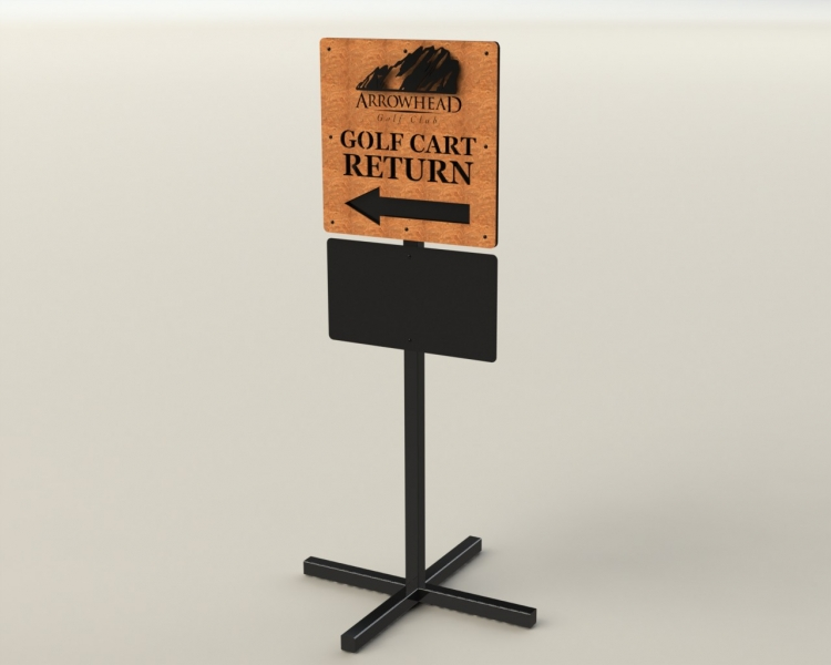 arrowhead-cart-return-sign