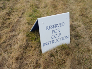 Golf Course Practice Facility Sign -Cattail Creek