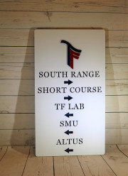 Directional Signs for Golf Courses -Trinity Forest