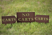 NO CARTS SIGNS