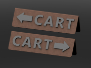 Small Cart Sign Right & Left Arrow