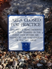 Golf Course Practice Facility Sign -Seaview