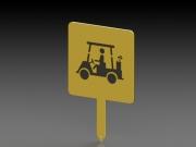 Golf Cart Sign