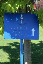 Golf Course Directional Sign -Rhode Island CC