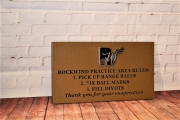 Golf Course Directional Sign -Rockwind
