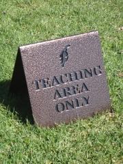 Golf Teaching Sign -Ptarmigan