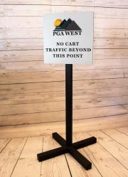 No Cart Directional Sign -PGA West