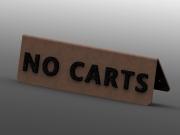 No Carts A-Frame