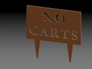 No Carts Sign