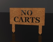 No Carts - Upright