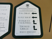 Golf Course Directional Signs