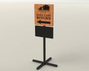 arrowhead-cart-return-sign