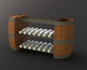 Sand and Seed Barrel Rack -Puerto Los Cabos