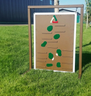 Driving Range Layout Sign BIG CANOE