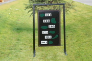 Driving Range Layout Sign