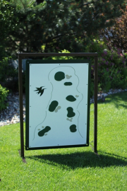 Golf Range Layout Sign -CASTLE PINES