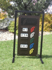 Ptarmigan Driving Range Sign