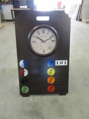 Driving Range Sign with Clock -Cattail