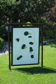 Golf Range Layout Sign -CASTLE PINES