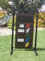 Ptarmigan Driving Range Sign
