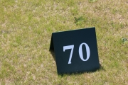 A-frame Yardage Sign