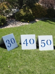 Driving Range Yardage A-frame Signs