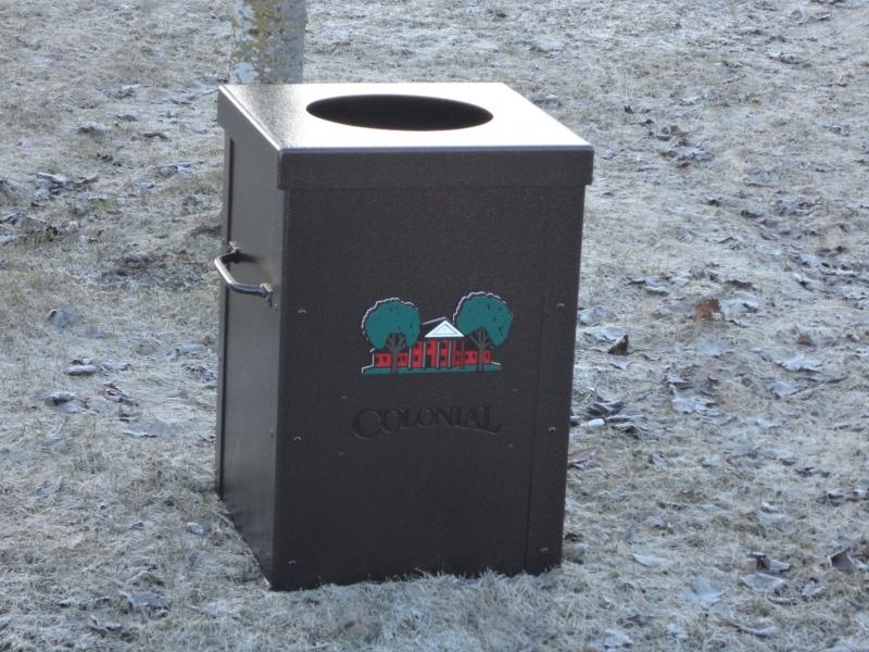 Custom Trash Can Shell -Colonial Country Club