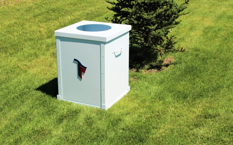 Garbage Can Enclosures -Trinity Forest