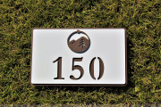 In-ground Yardage Plate -STOWE MOUNTAIN