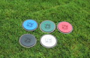 In-ground yardage markers -Frenchman's Reserve