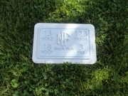 Custom Golf Yardage Plate -North Fork