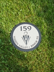 In-Ground Yardage Plate -Hidden Valley