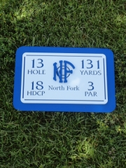 In-Ground Yardage Plates -North Fork
